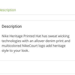 Nike Accessories - LAST DAY! ❤️Nike Heritage86 Dri-Fit Cap NWOT